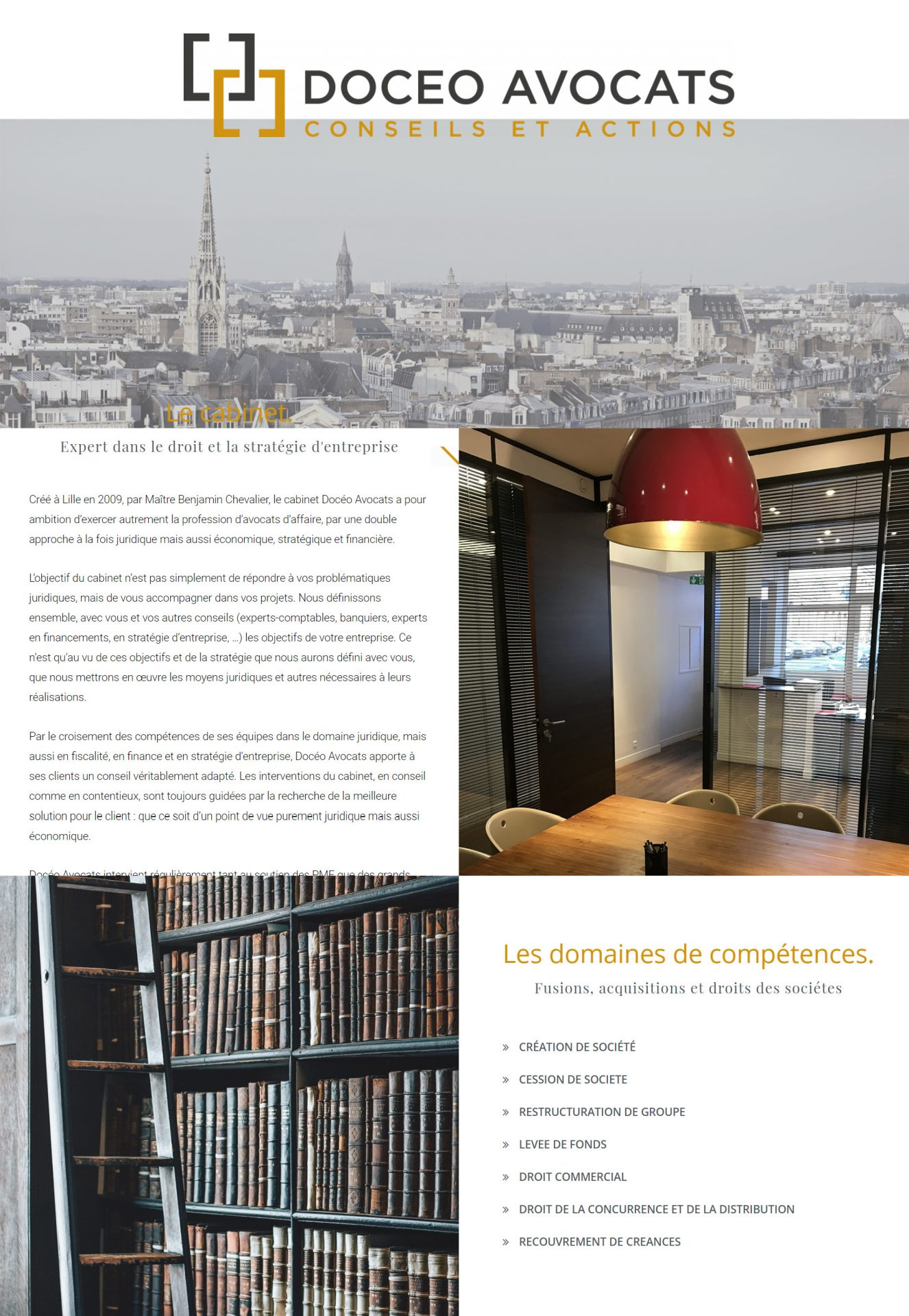 Site web Doceo Avocats