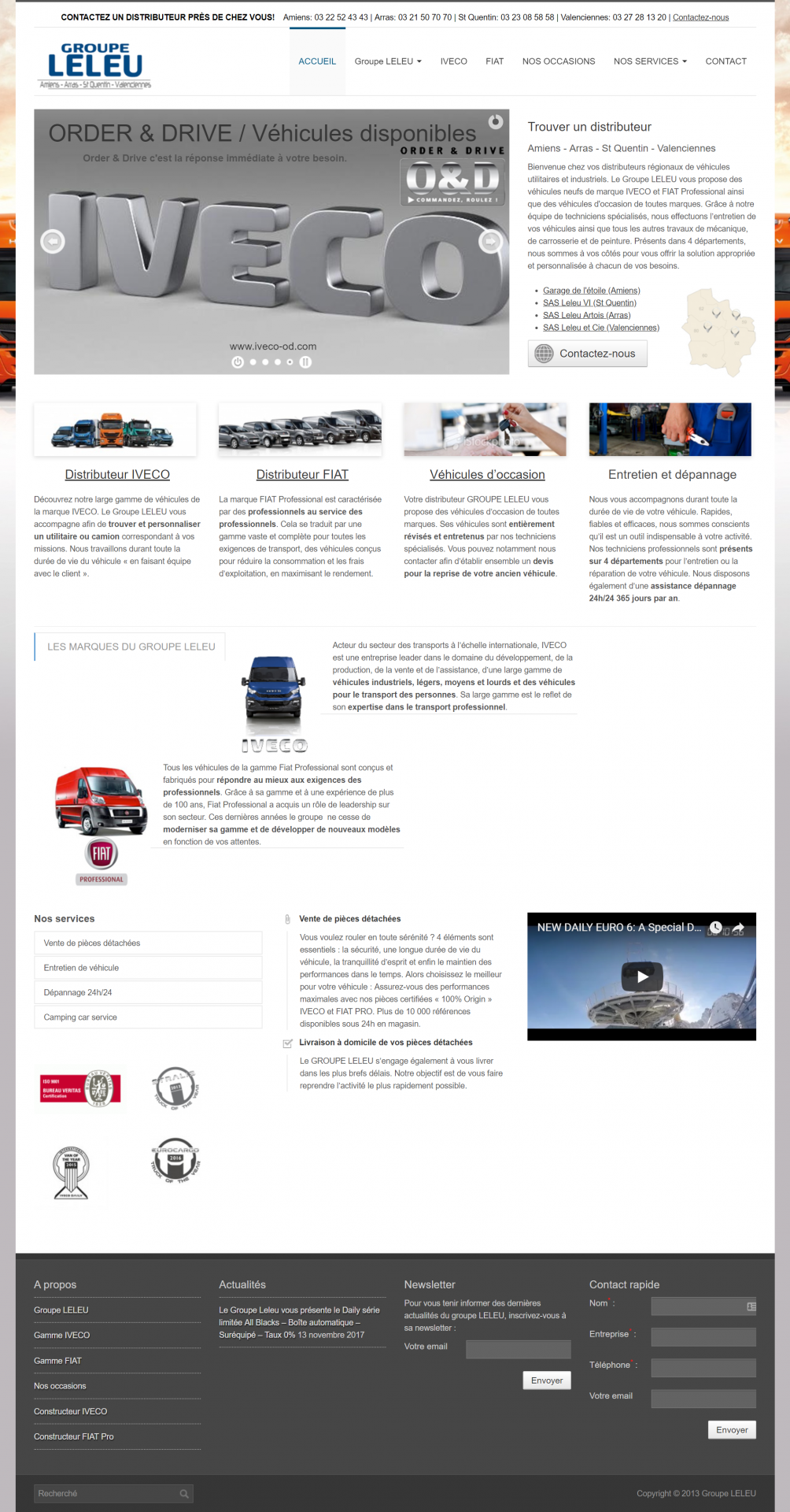 Site web Groupe Leleu
