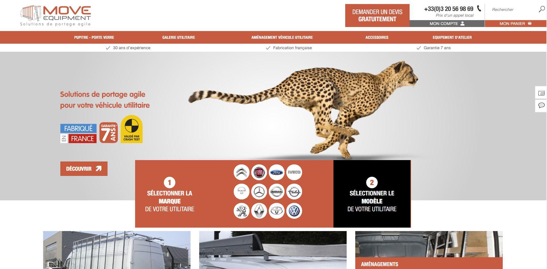 Site web Move Equipement