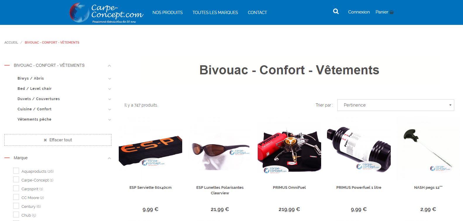 Site web Carpe Concept