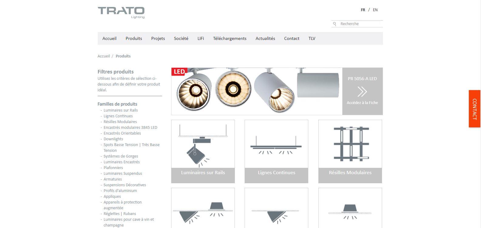 Site web Trato